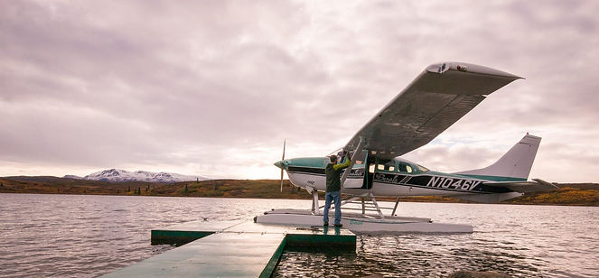 Fly in to Caribou Lodge Alaska for a relaxing stay in a private cabin near Talkeetna. We are an eco-tourism all-inclusive destination near Denali Park.
