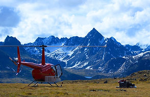 Guided helicopter Camping Trips in Alaska