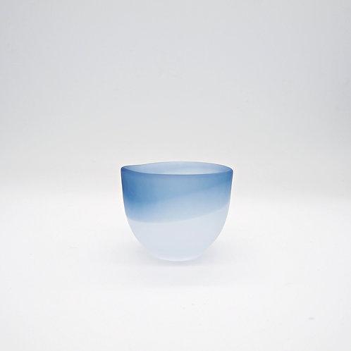 玻璃酒杯 - 藍