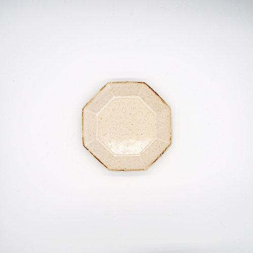 美濃燒 - 八角盤 - 白
