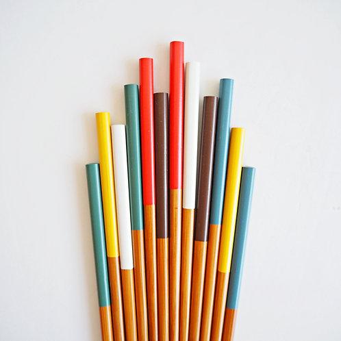 彩虹竹筷子