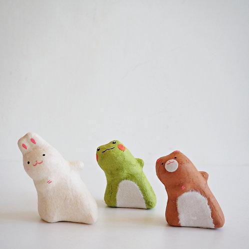 偷窺動物- 兔蛙熊