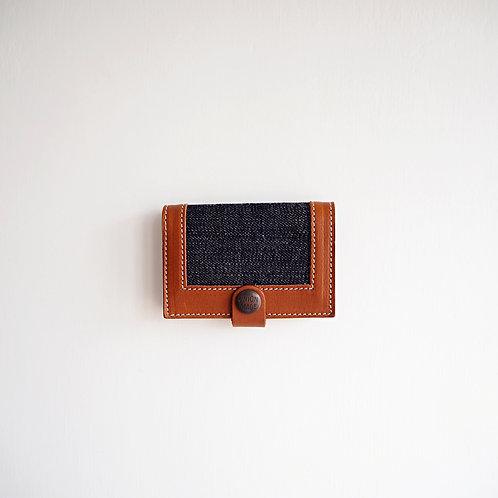 皮革 x 牛仔布 - 卡片盒