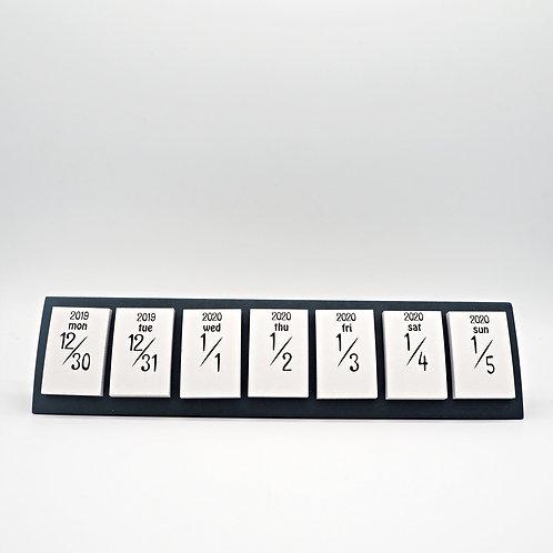 日曆MEMO - 灰白