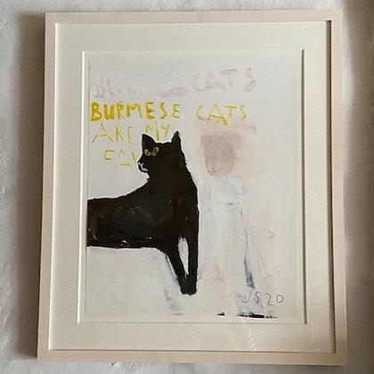 'Burmese Cat' by Jemima Stilwell