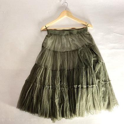 Handmade French Tulle Petticoat - Verte