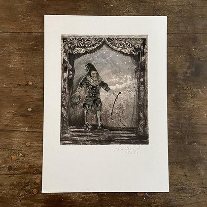 'Clown Boy - aspiring to be king' By Jane Farrington