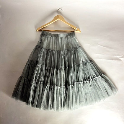 Handmade French Tulle Petticoat - Gris Francais