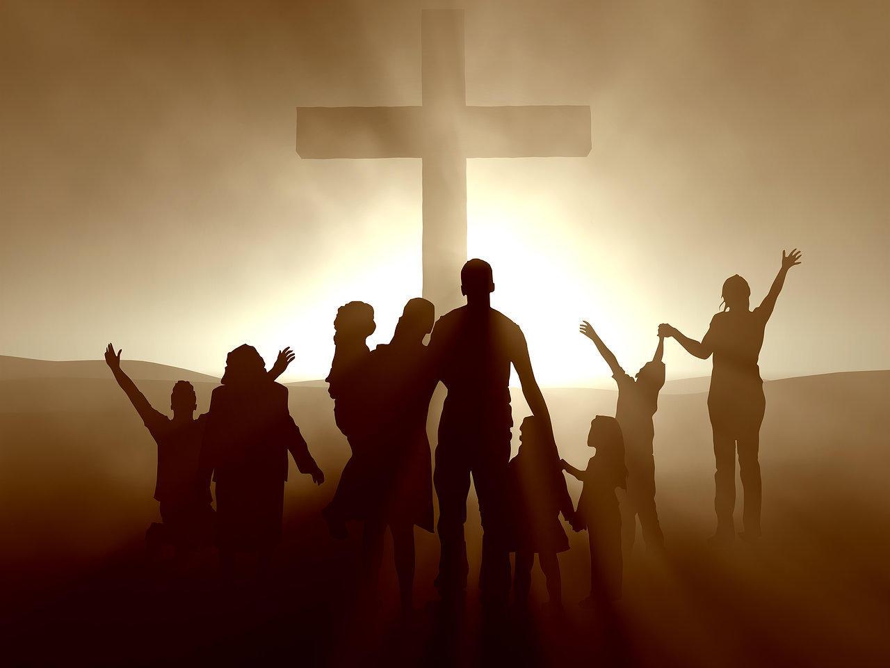 Familie vier hulle geloof