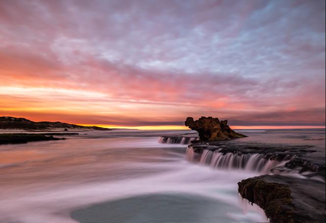 """Sunrise Skies""  Dragon's Head, Rye, Victoria"