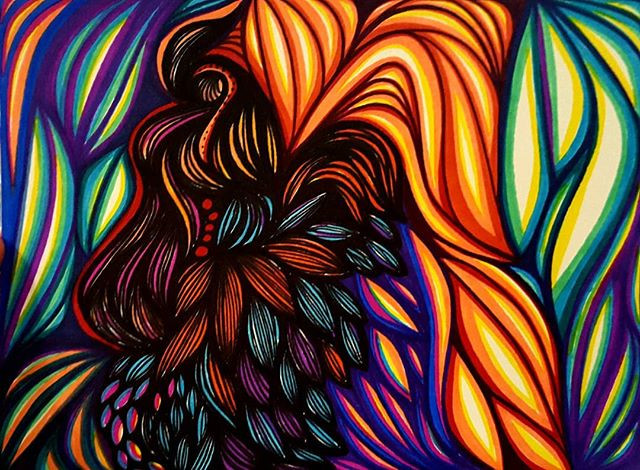 Fire Rooster_Original art by Heather Tho
