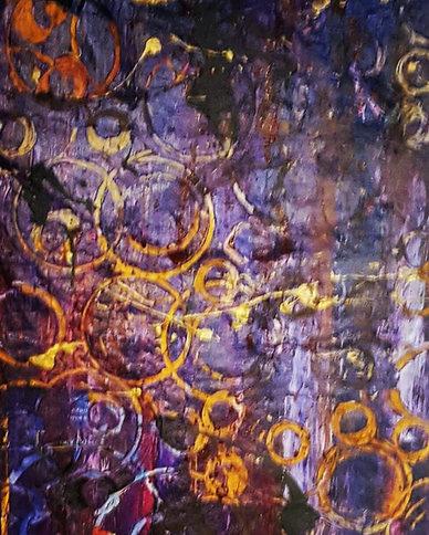 New art!_Nexus_Mixed media_12 x 36_Origi