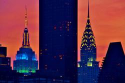 Queensboro Bridge, Empire State & Chrysler Buildings (1)
