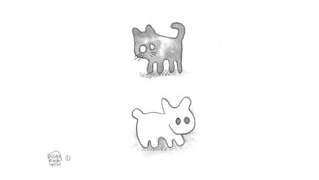 "Oscar Oiwa""Shadow Cat & Light Rabbit"""