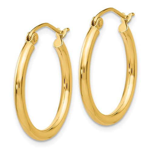 Yellow Gold Petite Hoops