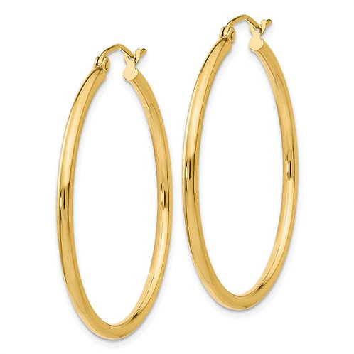 Yellow Gold Large Hoops