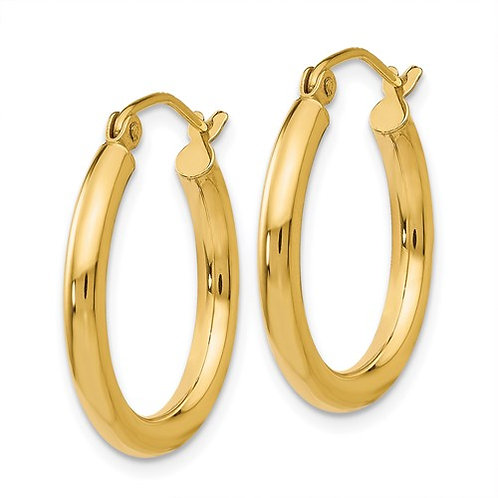 Yellow Gold Petite Hoops (thick)