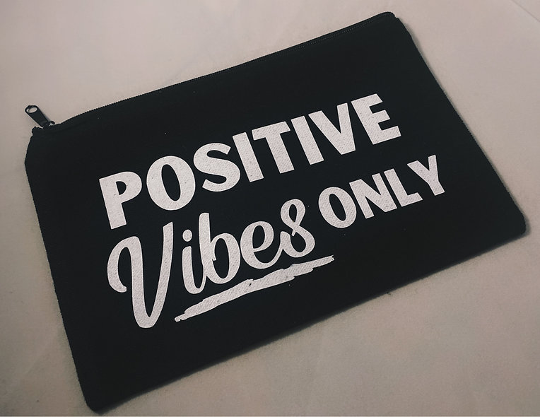 """""""Positive Vibes Only"""" Canvas Bag"""