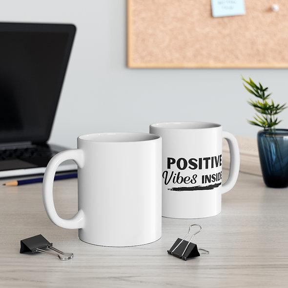 """Positive Vibes"" Inside Mug"