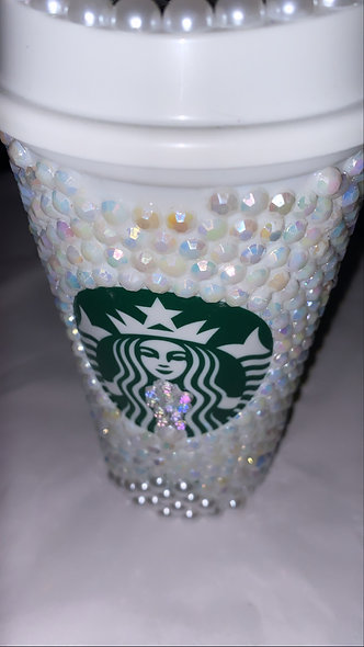 Custom Pearl STARBUCKS Warm Cup