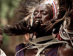 Maasai warrior, Shompole