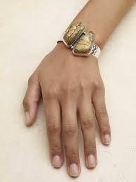 Picture jasper cuff bracelet