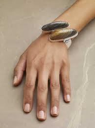 Polychrome jasper cuff bracelet