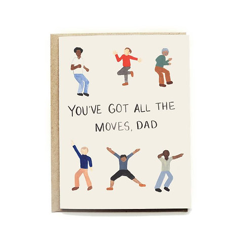 Dancing Dads Father's Day Card
