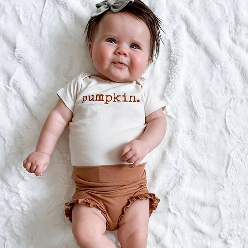 Pumpkin Short Sleeve Bodysuit