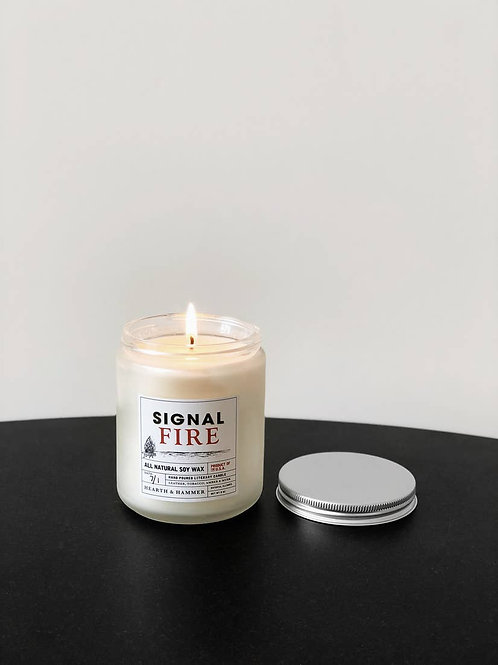 Signal Fire Literary Candle 8oz