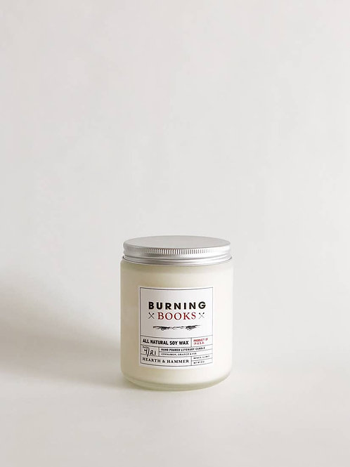 Burning Books Literary Soy Candle 8oz