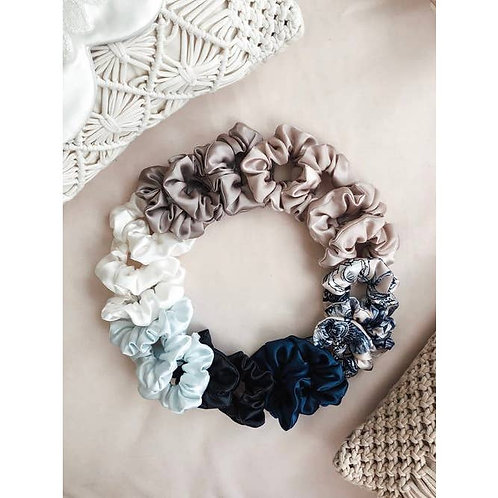 Silk Scrunchie - Navy