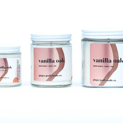 Vanilla Oak 4oz Non-toxic Soy Candle
