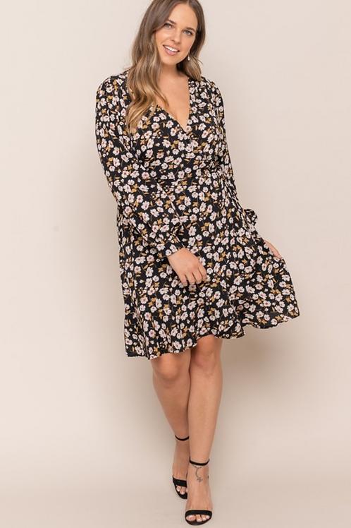 Amelie Ruffle Wrap Dress