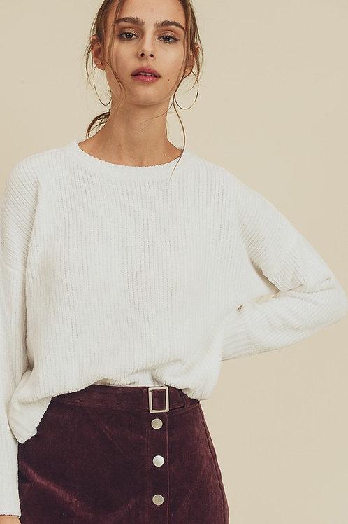 White Crew Neck Sweater