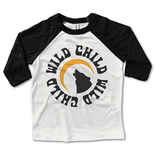 Wild Child Children's Baseball Tee