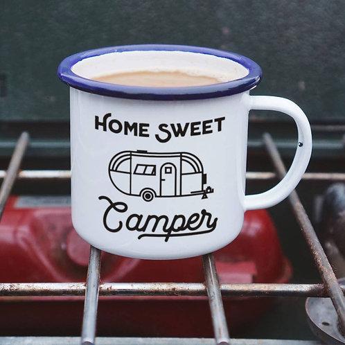 Home Sweet Camper Enamelware Camping Mug