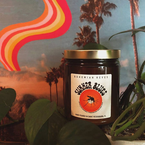 Summer Blues Insect Repellant Candle