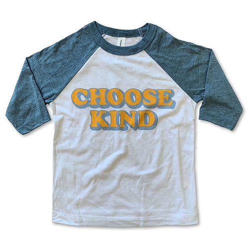 Choose Kind Children's Baseball Tee