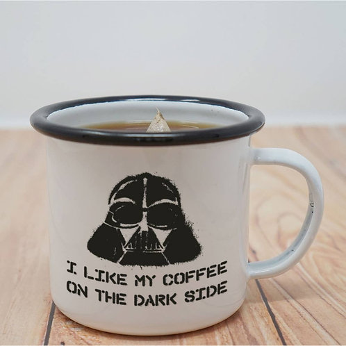 I Like My Coffee on the Dark Side Enamel Mug