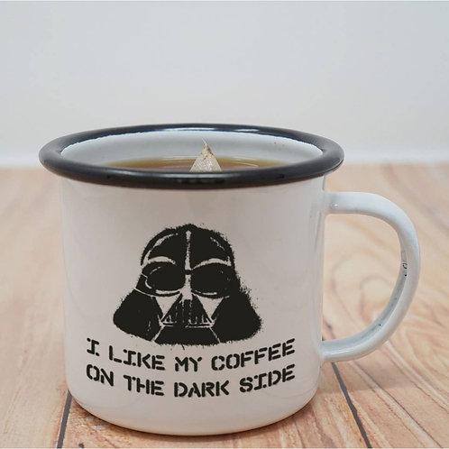 I Like My Coffee on the Dark Side Enamel Mug