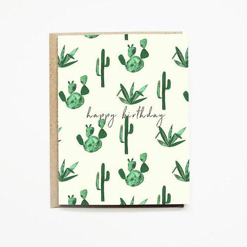 Yellow Cactus Birthday Card