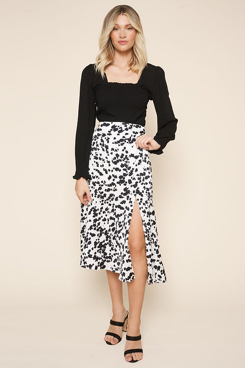 Sugarlips Splatter Animal Midi Skirt