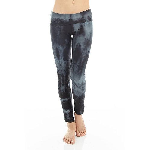 Black and Grey Tie Dye Yoga Pants