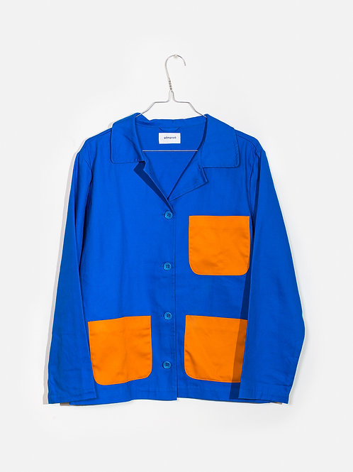 Jacket-royal&orange