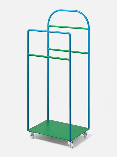 Valetstand azure&green with wheels