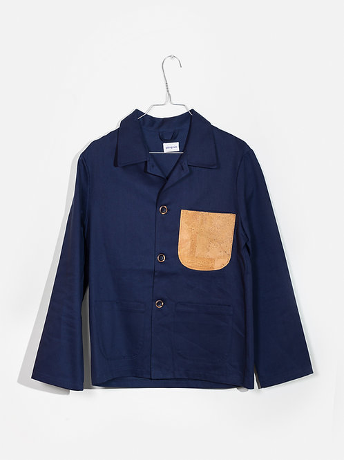 Jacket blue&cork