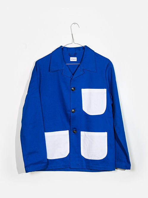 Jacket-royal&white