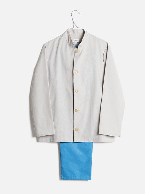 Spring clothes grey&azure