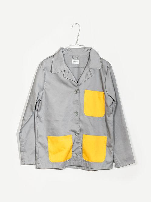 Jacket grey&yellow